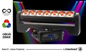 ROTOR7i Linear Projector 7 x 15W RGBW