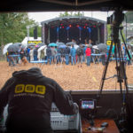 FOH Perspektive auf Openair Bühne