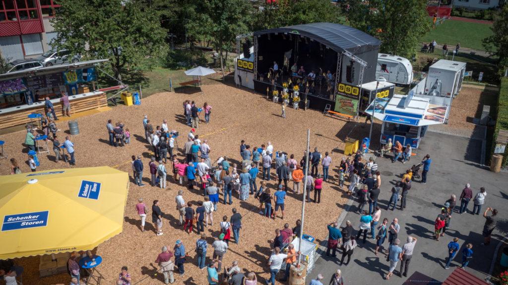 Vogelperspektive - Dorffest Zeinigen, Referenz SSE Eventtechnik