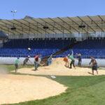 Aufbau der Arena und Beschallung